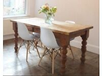 Large Solid Pine Dining Table