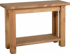 New Solid Block Console Hall Table SALE £79 in stock now