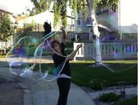 """""""The Bubble Lady"""": performing bubble shows! Even face painting!"""