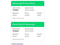 Edinburgh to paris