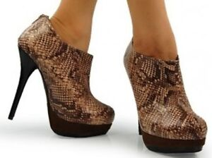 BOTTINE PLATEFORME PYTHON PLATFORM SHOOTIES/BOOTIES