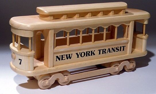 PLAN / INSTRUCTIONS To Make Detailed Toy Trolley Car Woodworking Blueprint Plan