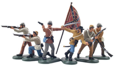 William Britain 52001 Civil War Confederate Infantry Set #2 Butternut Uniforms on Rummage
