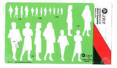 Jakar Template 4648  Human Figure Female People Stencil