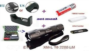 UltraFire 5-Mode Zoomable Tactical Flashlight Set
