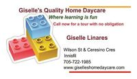 Giselle's Quality Home Daycare-RECE-Innisfil