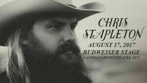 GET YOURS ✯✯CHRIS STAPLETON✯✯ Budweiser Stage -SAT Aug 17✯✯