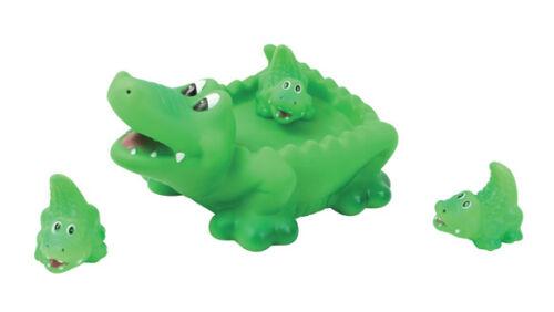 Floating Bath Tub Toy Playmaker Toys Rubber Alligator Family Bathtub Set of 4