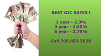 GIC RATES ARE ON THE RISE!