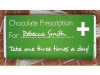 Personalised 'prescription' chocolate bar