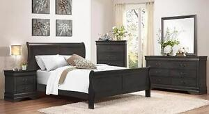 LOUIS PHILIPPE BEDROOM SUITE, CHARCOAL, WHITE, OR CHERRY new