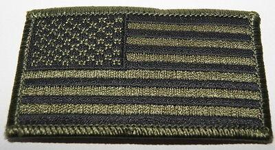 AUFNÄHER PATCH AUFBÜGLER FLAGGE USA VEREINIGTE STAATEN v. AMERIKA OLIV LINKS B