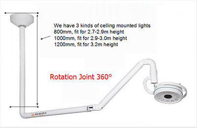 360 Rotation Ceiling Mounted Led Surgical Exam Shadowless Cold Light 36w 1200mm