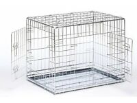 Large silver savic dog crate