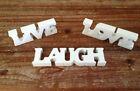 Wooden Live, Laugh, Love Decorative Plaques & Signs
