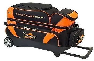Hammer Premium 3 Ball Bowling Bag Roller Color Orange Black