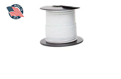 50ft Milspec High Temperature Wire Cable 18 Gauge White Tefzel M2275916-18-9