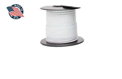 100ft Milspec High Temperature Wire Cable 18 Gauge White Tefzel M2275916-18-9