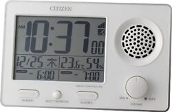 CITIZEN loud radio Alarm clock super clear tone F White 8RZ149-003 from Japan