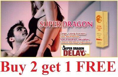 Super Dragon 6000 Men Delay Spray Longer Sex Ejaculation New Formula   Genuine