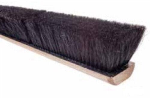 """Magnolia Brush #718-X 18"""" Black Plastic & Horsehair Floor Brush Push Broom Head"""