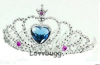 "Lovvbugg Tiara with Blue for 18"" American Girl Doll Accessory"