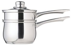 Kitchen Craft Stainless Steel PORRINGER Steamer Bain Marie Double Boiler Pan IND