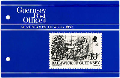 GUERNSEY PRESENTATION PACK MNH 1982 CHRISTMAS STAMP SET
