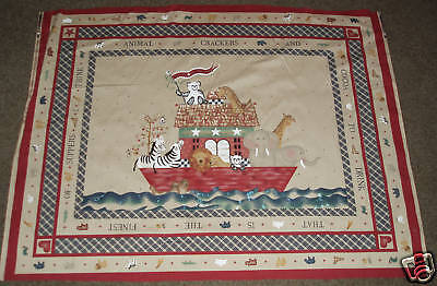 Noah's Ark Fabric (COTTON Daisy Kingdom NOAH's  Ark  Animal Cracker)