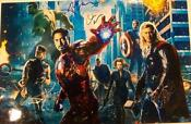 Avengers Movie Poster Signed