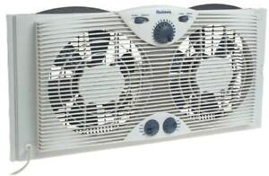 NEW Holmes HAWF-2041 Twin Window Fan with Comfort Control Thermostat