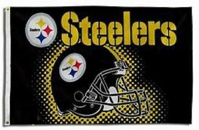 NEW Pittsburgh Steelers Helmet Flag Large 3'X5' NFL FREE SHIPPING](Steelers New Helmet)