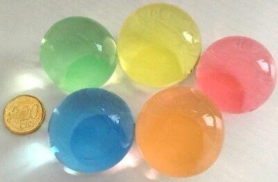 RIESIG: 25 Wasserperlen, Dekoperlen, Farbmix, XXL, ergibt ca. 30-40 mm Ø