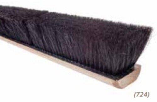 "Magnolia Brush #724 24"" Black Horsehair Floor Brush Push Broom Head"