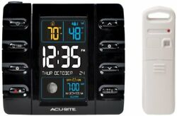 AcuRite 13020 Intelli-Time Projection Alarm Clock with Temperature and USB