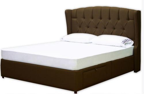 queen storage bed frame ebay. Black Bedroom Furniture Sets. Home Design Ideas
