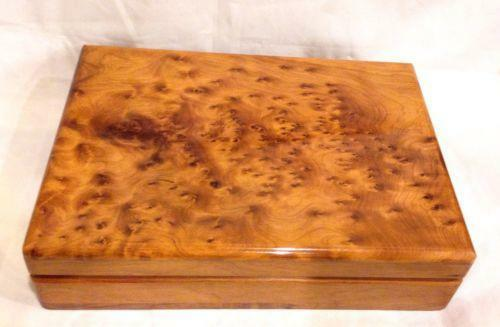 Burl Wood Jewelry Box Ebay