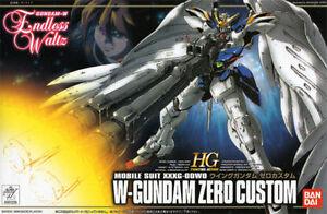 Gundam Wing Endless Waltz 1/144 HG EW-01 W-Gundam Zero Custom Model Kit Bandai