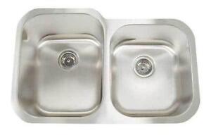 stainless steel kitchen double sinks - Double Kitchen Sink