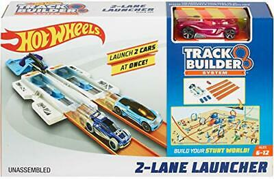 Hot Wheels Track Builder 2-Lane Launcher Playset 2 Lane Launcher