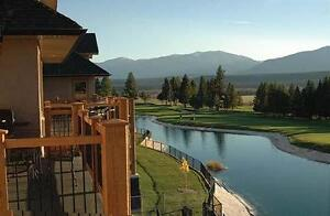 week at Bighorn Meadows Resort in Radium right on golf course.