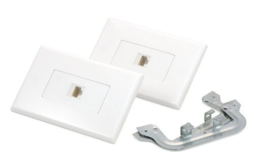 Cat6 RJ45 Ethernet Wall Plate Kit Inline Coupler