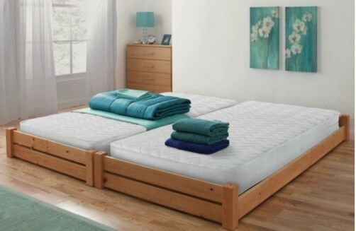 Stakka guest bed with 2 mattresses