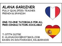 SPANISH / FRENCH TUTOR, one to one lessons for National 5, Higher and Adult Learners - Kilmarnock