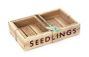 Set of 3 Traditional Quality Wooden Seedling Trays Seed Tray Burgon and Ball