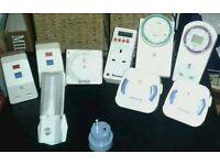 Electrical plug timers/circuit breakers, 2 digital. 10 in total