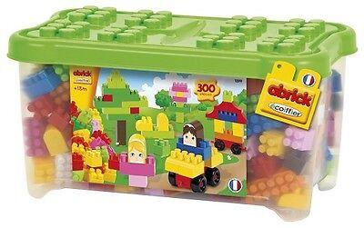 Abrick große Bausteine Box 300 bunt Kunstoff Bauklötze Steckbausteine Kinder/NEU
