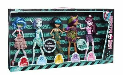 Monster High Skull Shores 5 Pack Exclusive Ghoulia Frankie Cleo Dolls NEW IN BOX