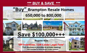 Special VIP OFFER Detached Brampton Homes & Detached Brampton