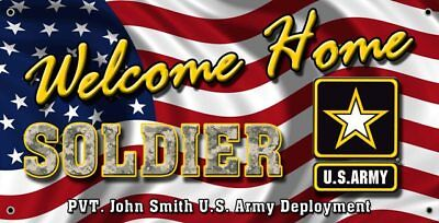 US ARMY WELCOME HOME BANNER POSTER SIGN